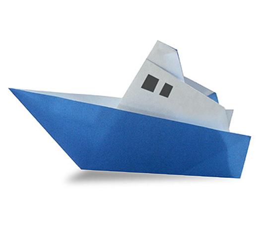 オリカタ公式さんによる【伝承】汽船の折り紙