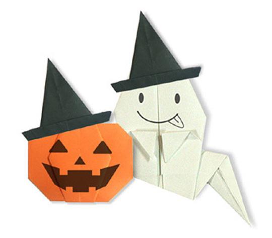 おりがみくらぶ(新宮文明)さんによるまじょのぼうしの折り紙