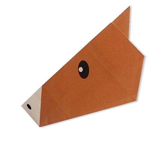 おりがみくらぶ(新宮文明)さんによるうまのかおの折り紙