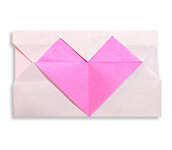 おりがみくらぶ(新宮文明)さんによるはーとのてがみの折り紙