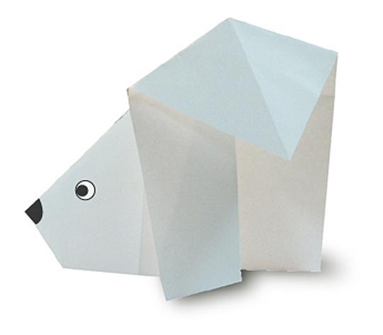 おりがみくらぶ(新宮文明)さんによるしろくまの折り紙