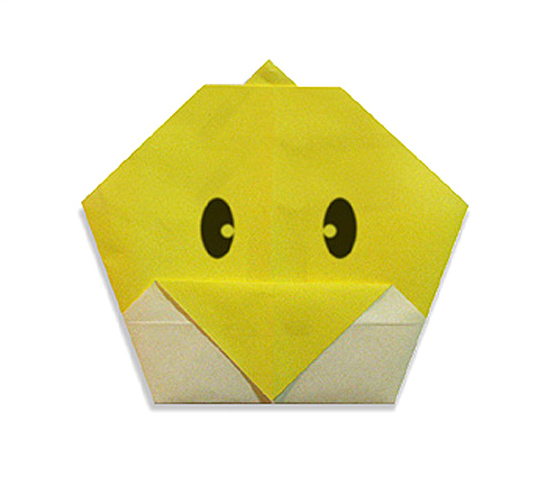 おりがみくらぶ(新宮文明)さんによるひよこのかおの折り紙