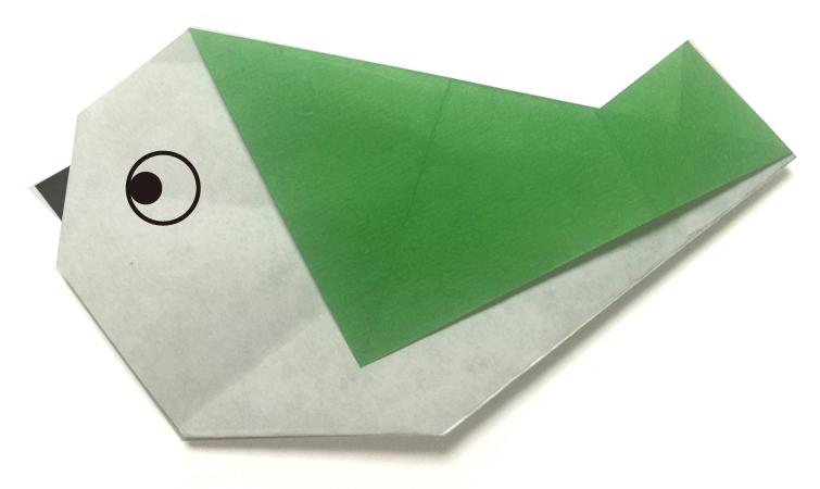 おりがみくらぶ(新宮文明)さんによるうぐいすの折り紙