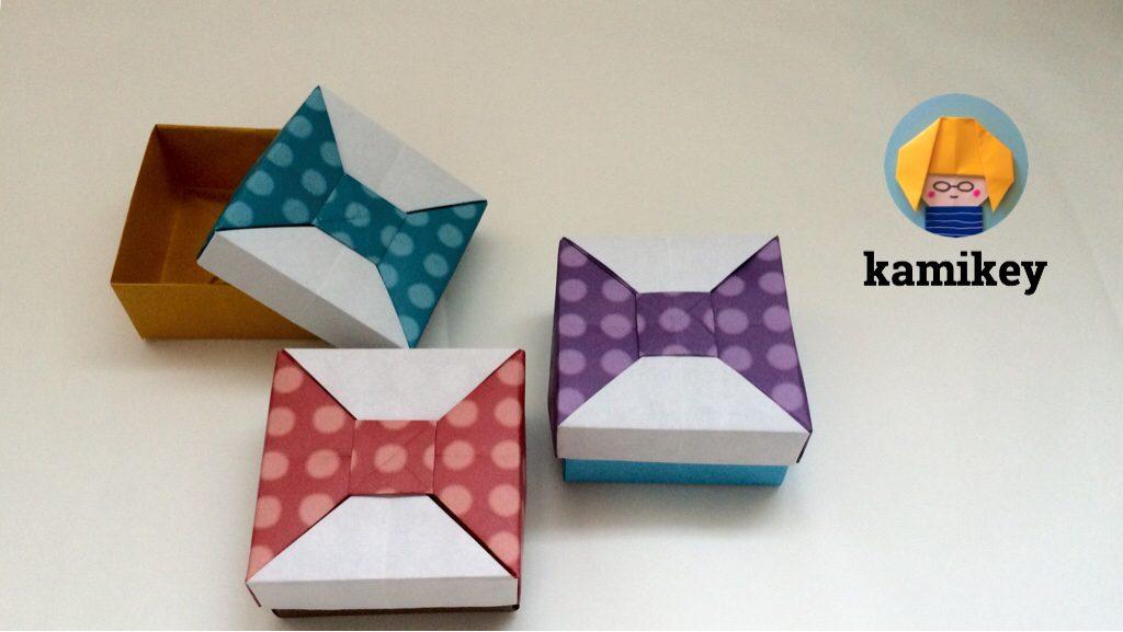 カミキィさんによるリボンの箱2の折り紙