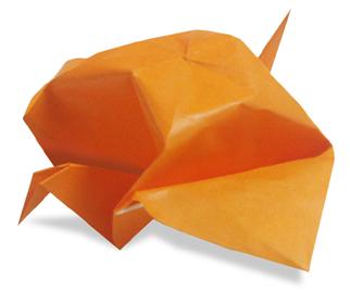 オリカタ公式さんによる《伝承》ふっくらスズメの折り紙