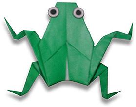 オリカタ公式さんによる《伝承》カエルの折り紙