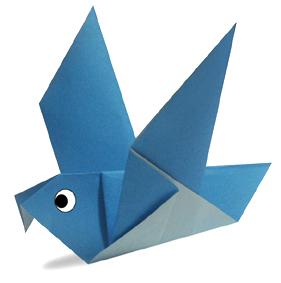 オリカタ公式さんによる《伝承》鳩の折り紙