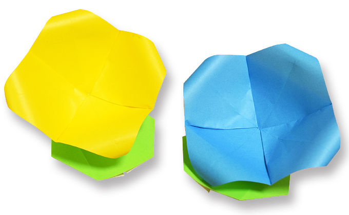 おりがみくらぶ(新宮文明)さんによるはなざらの折り紙