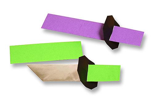 おりがみくらぶ(新宮文明)さんによるかたなの折り紙