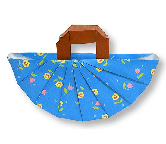 おりがみくらぶ(新宮文明)さんによるはんどばっくの折り紙