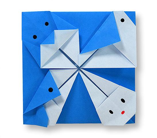 おりがみくらぶ(新宮文明)さんによるこーすたー3の折り紙