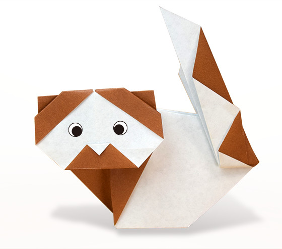 おりがみくらぶ(新宮文明)さんによるれっさーぱんだの折り紙