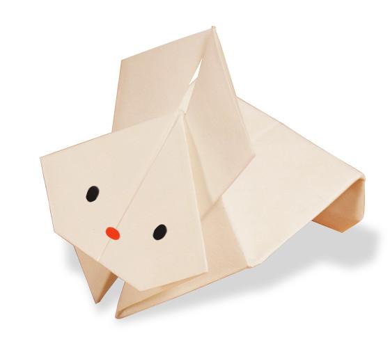 おりがみくらぶ(新宮文明)さんによるぴょんうさぎの折り紙