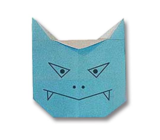 おりがみくらぶ(新宮文明)さんによるあおおにの折り紙