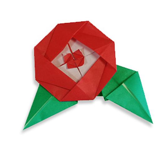 おりがみくらぶ(新宮文明)さんによるつばきの折り紙