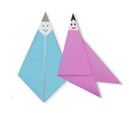 おりがみくらぶ(新宮文明)さんによるおりひめの折り紙