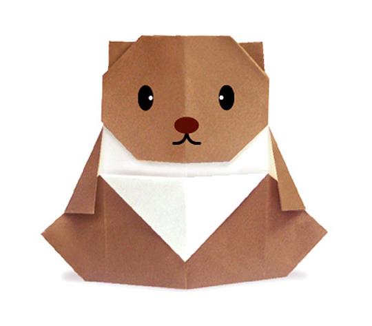 おりがみくらぶ(新宮文明)さんによるこぐまの折り紙