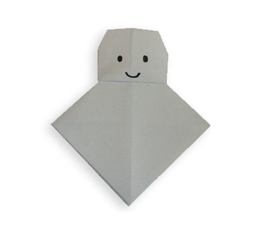 おりがみくらぶ(新宮文明)さんによるてるてる坊主の折り紙