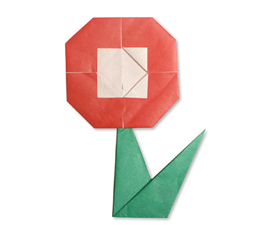 おりがみくらぶ(新宮文明)さんによるはな 2の折り紙