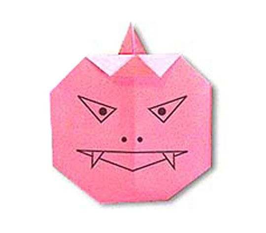 おりがみくらぶ(新宮文明)さんによるあかおにの折り紙