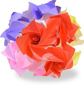 おりがみくらぶ(新宮文明)さんによるバラの折り紙