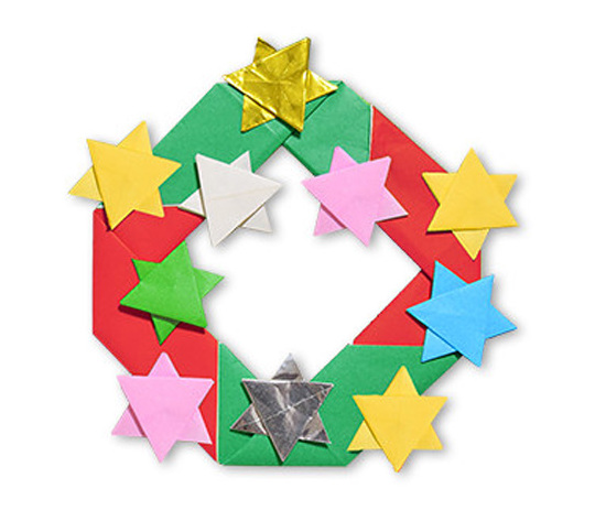 おりがみくらぶ(新宮文明)さんによるりーす 4の折り紙