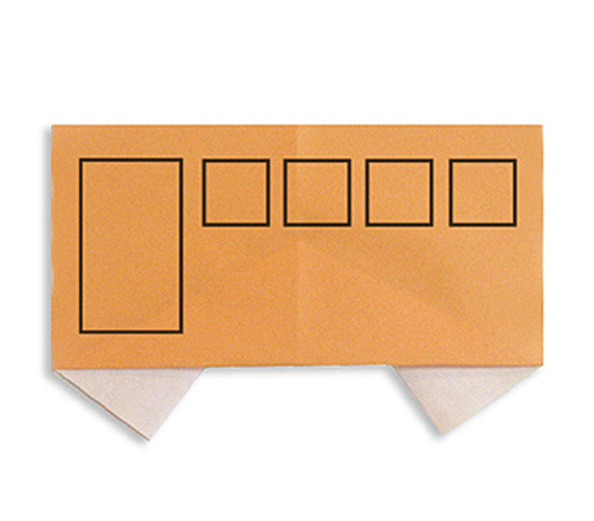 おりがみくらぶ(新宮文明)さんによるばすの折り紙