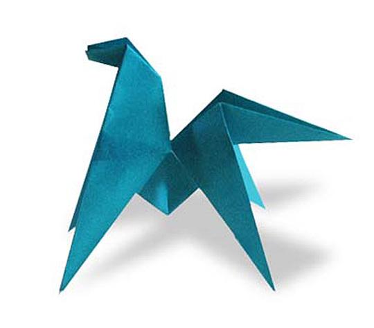オリカタ公式さんによる【伝承】回転仔馬(ちゅうがえりうま)の折り紙