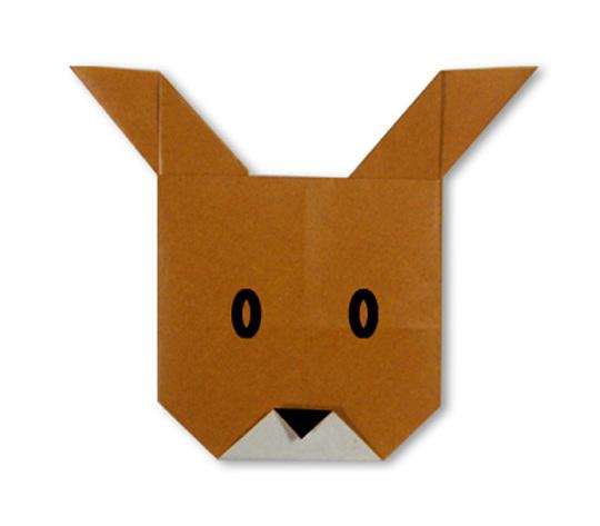 おりがみくらぶ(新宮文明)さんによるとなかいのかお2の折り紙
