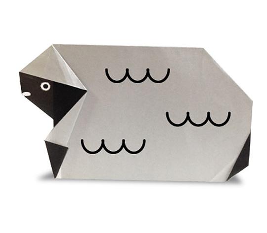 おりがみくらぶ(新宮文明)さんによるひつじ2の折り紙