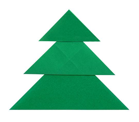 おりがみくらぶ(新宮文明)さんによるかんたんつりーの折り紙