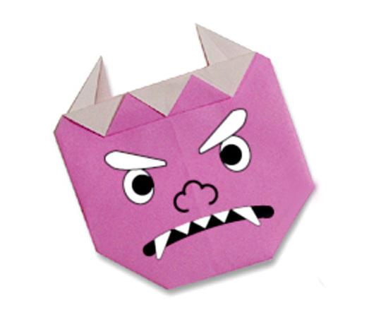 おりがみくらぶ(新宮文明)さんによるおにの折り紙