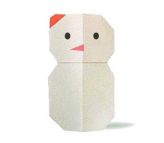おりがみくらぶ(新宮文明)さんによるゆきだるまの折り紙