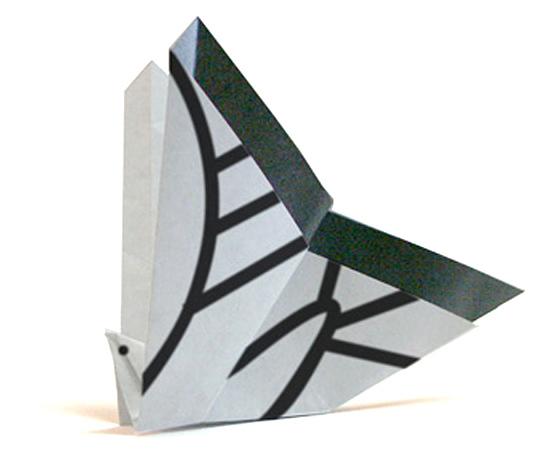 おりがみくらぶ(新宮文明)さんによるあげはちょうの折り紙