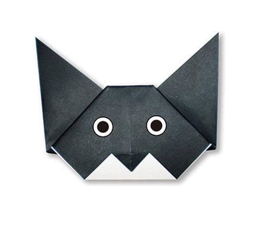おりがみくらぶ(新宮文明)さんによるしゃむねこのかおの折り紙