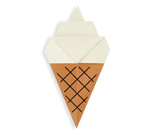 おりがみくらぶ(新宮文明)さんによるそふとくりーむの折り紙