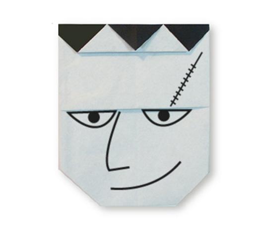 おりがみくらぶ(新宮文明)さんによるふらんけんのかおの折り紙