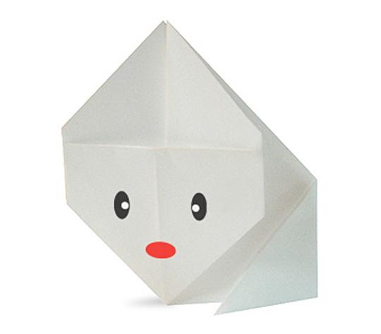 おりがみくらぶ(新宮文明)さんによるうさぎの折り紙