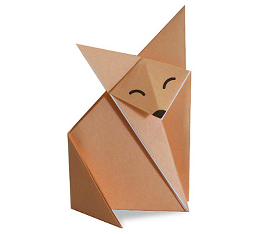 おりがみくらぶ(新宮文明)さんによるきつねの折り紙