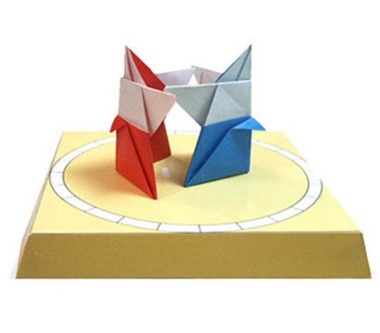 おりがみくらぶ(新宮文明)さんによるおすもうさんの折り紙