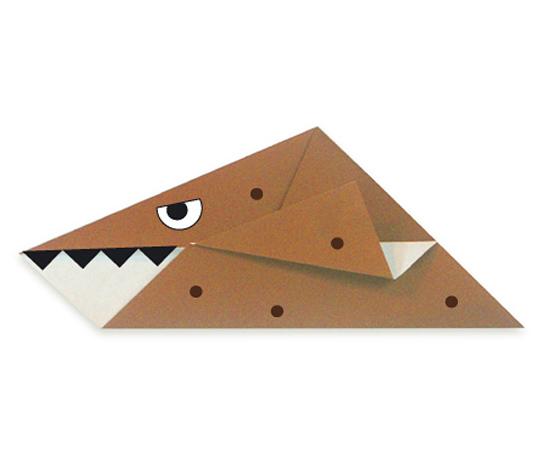 おりがみくらぶ(新宮文明)さんによるくろのさうるすの折り紙