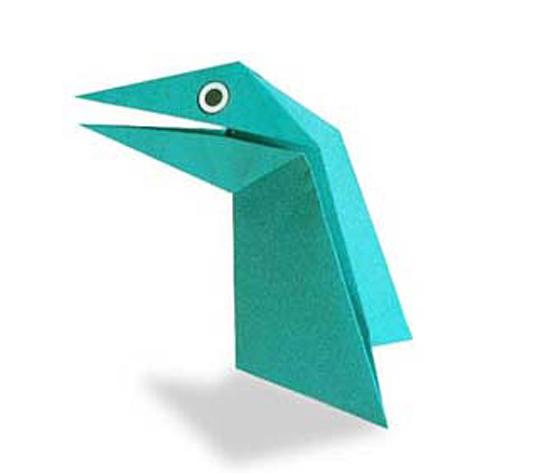 おりがみくらぶ(新宮文明)さんによるぱくぱくきょうりゅうの折り紙