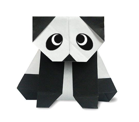 おりがみくらぶ(新宮文明)さんによるぱんだ2の折り紙