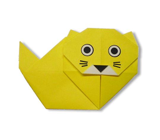 おりがみくらぶ(新宮文明)さんによるぺるしゃねこの折り紙