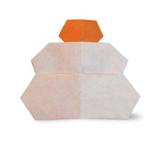 おりがみくらぶ(新宮文明)さんによるかがみもちの折り紙