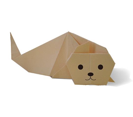 おりがみくらぶ(新宮文明)さんによるあざらし 2の折り紙