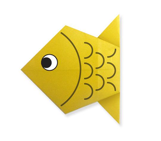 おりがみくらぶ(新宮文明)さんによるさかな2の折り紙