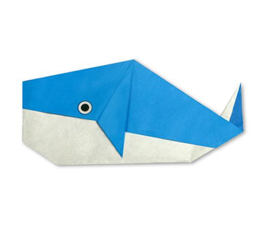 おりがみくらぶ(新宮文明)さんによるくじら 2の折り紙