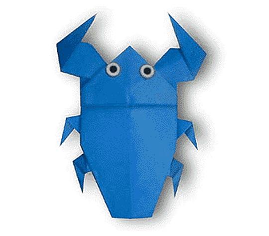 おりがみくらぶ(新宮文明)さんによるたがめの折り紙
