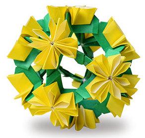 おりがみくらぶ(新宮文明)さんによるたんぽぽの折り紙